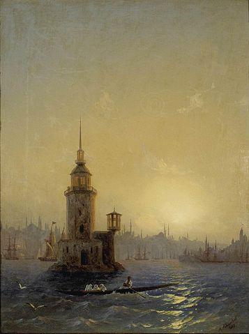 «Вид Леандровой башни в Константинополе»