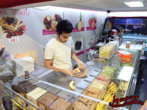Процесс приготовления знаменитых вафель