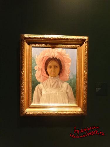 Девушка в розовой шляпе, Осман Хамди Бей